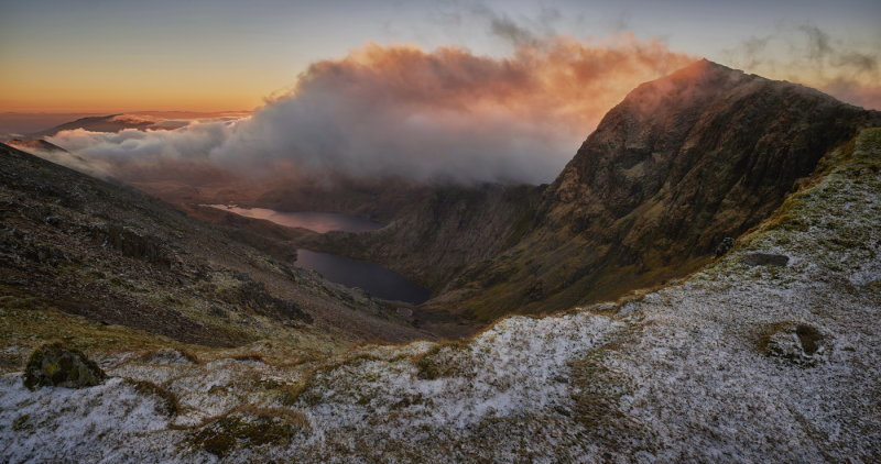 Snowdon cloudy sunrise