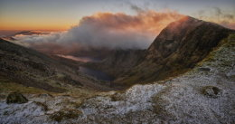 Snowdon cloudy sunrise