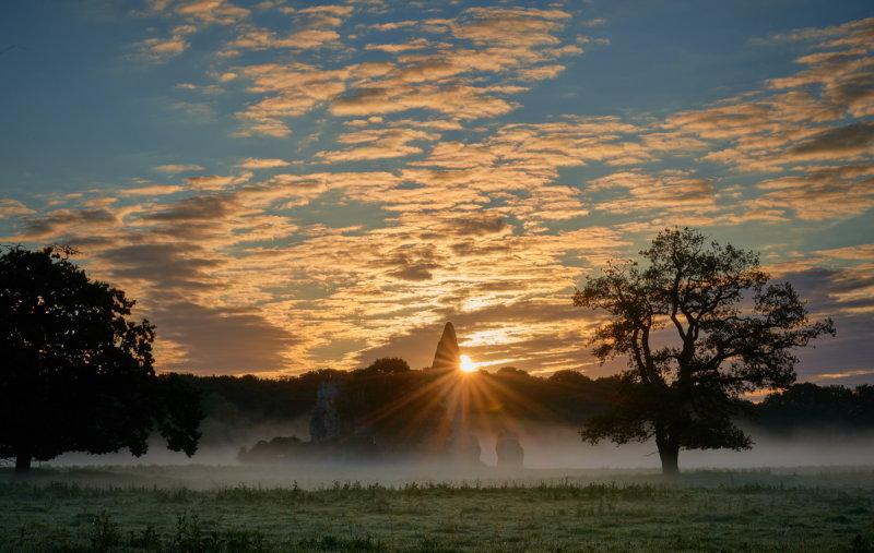 Newark abbey mist