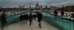 millenium bridge panorama
