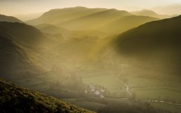 Sun shafts in the Lake district
