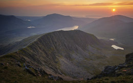 Misty Snowdon sunset