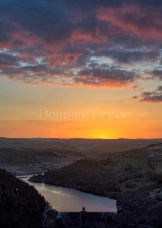 Resevoir sunset