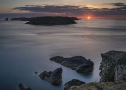 Skomer sunset (East side)