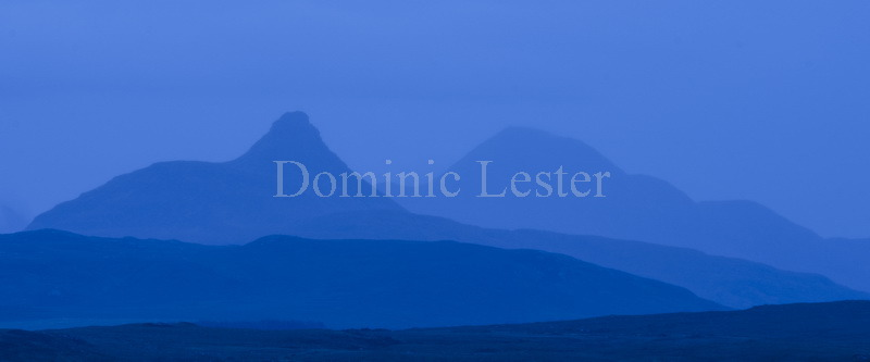 Distant blue mountains