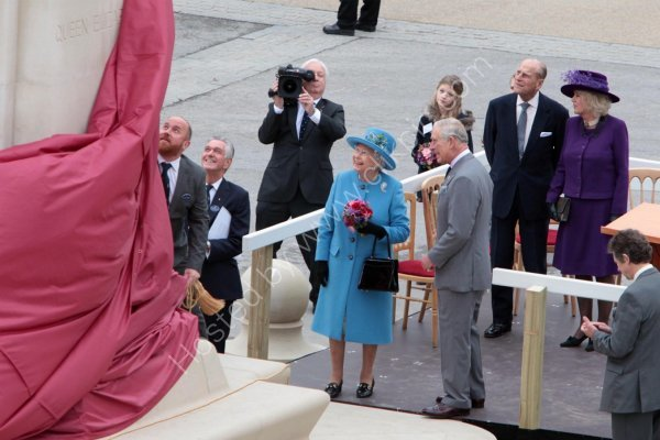 HM The Queen at Poundbury in Dorset.
