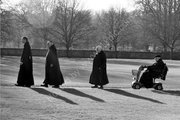 Monks from Salisbury Priory on their way to the Cathedral.