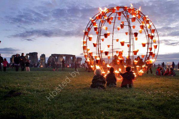 Fire Garden at Stonehenge.