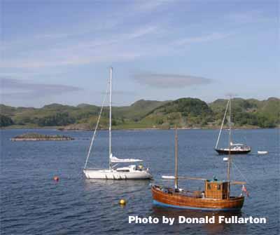 Yachts off Crinan