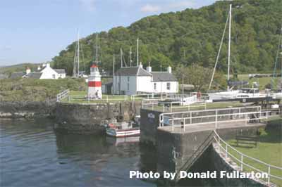 The Crinan Canal sea lock