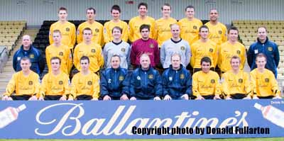 The official Dumbarton Football Club team photo for 2007/8.