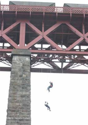 Abseiling from the Forth railway bridge
