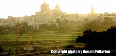 Evening view of Mdina