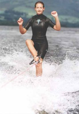 Right foot in — British junior water skiing champion Emma Mitchell from Balloch