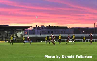 Sunset over Gayfield Park, Arbroath