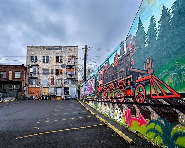Railroad Art Mural