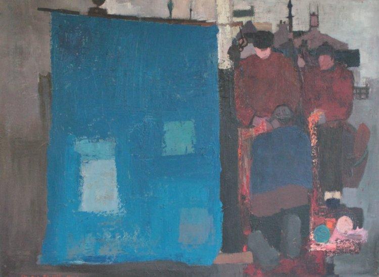 Balaich an Iasgaich II, Oil on panel 1974