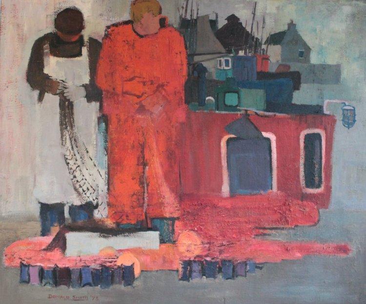 Balaich an Iasgaich I, Oil Panel, 122 x 102 1973