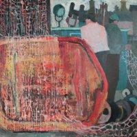 Dearg agus Gorm, oil Panel, 122 x 104, 1985