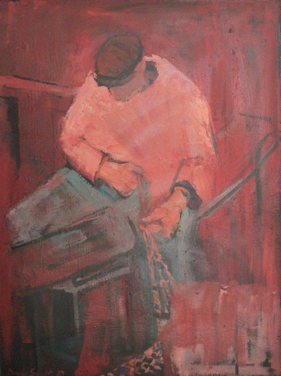 Fisherman, oil Panel, 68 x 92, 1968
