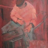 Fisherman, oil Panel, 68 x 92, 1968