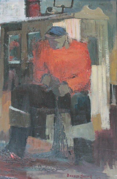 Fisherman oil on panel, 108 x 73, 1965