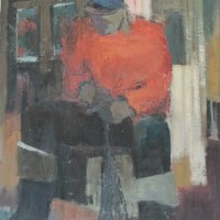 Fisherman oil on panel, 108 x 73, 1965