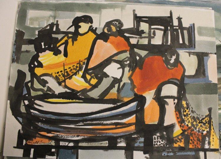 figures, ink, watercolour, 1998