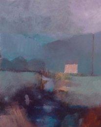 Cottage and rainstorm