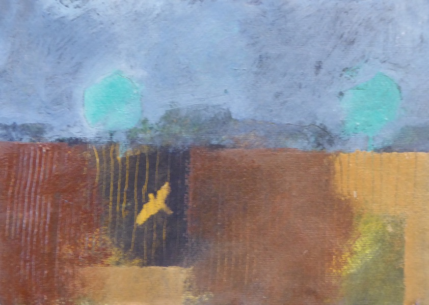 Bird and ploughed field