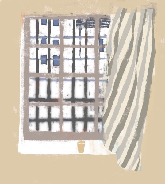 Window from the studio - Leith