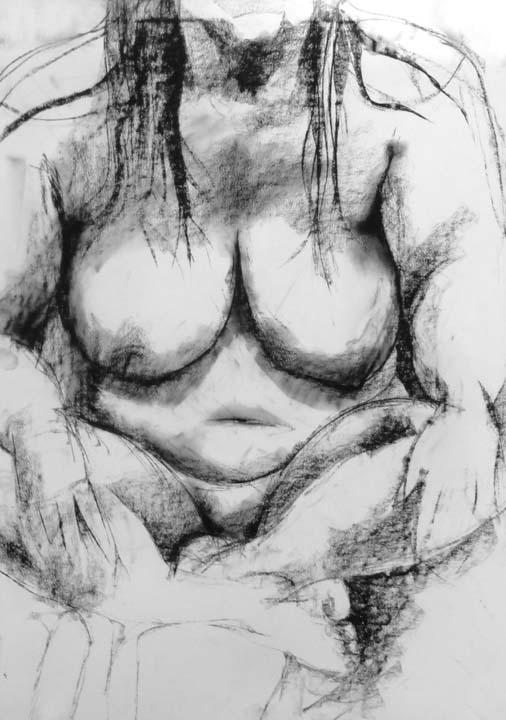 Cross legged woman