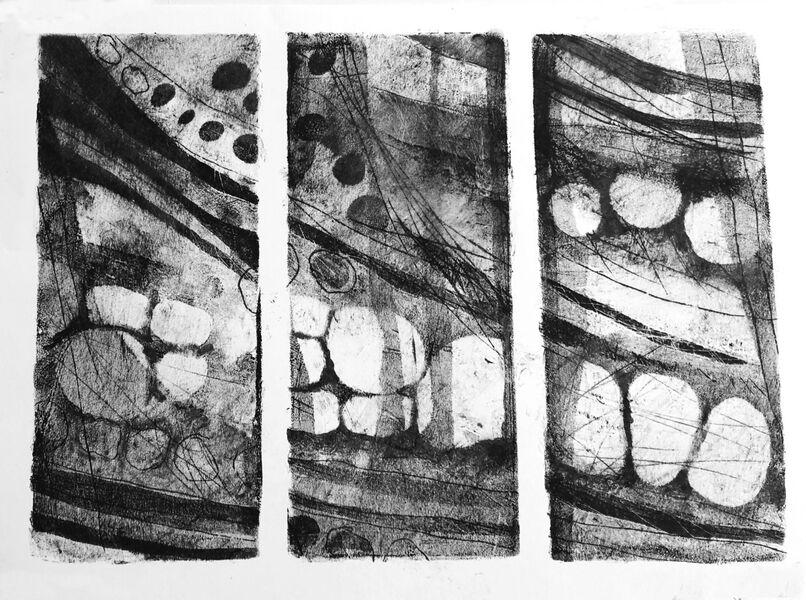 Dunnet Cliffs triptych 3