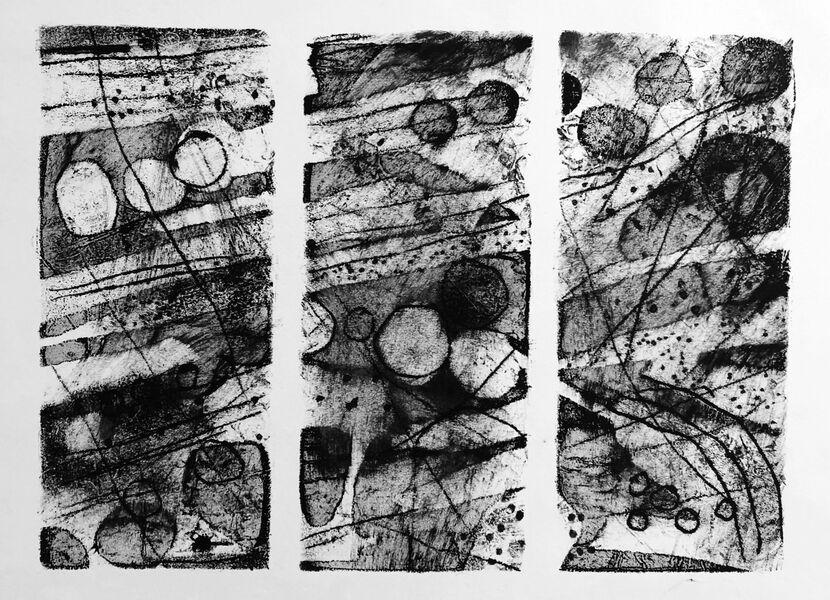 Dunnet Cliffs triptych 5
