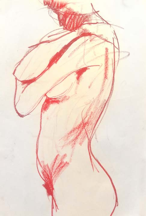 Female figure side view