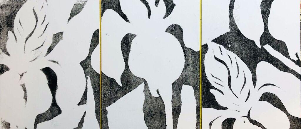 Iris triptych