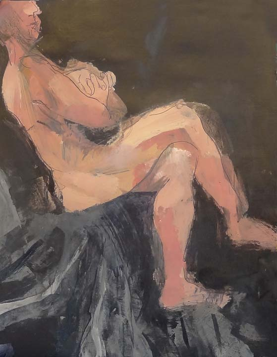 Male figure-sitting