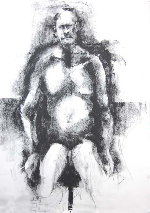Man sitting front