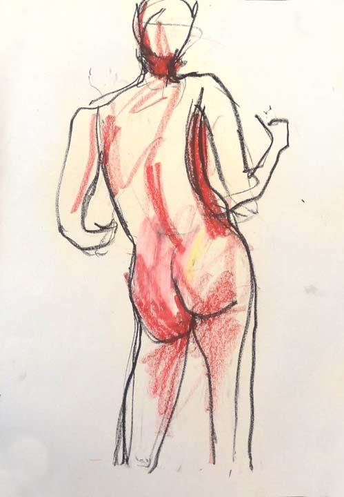 Pastel back view