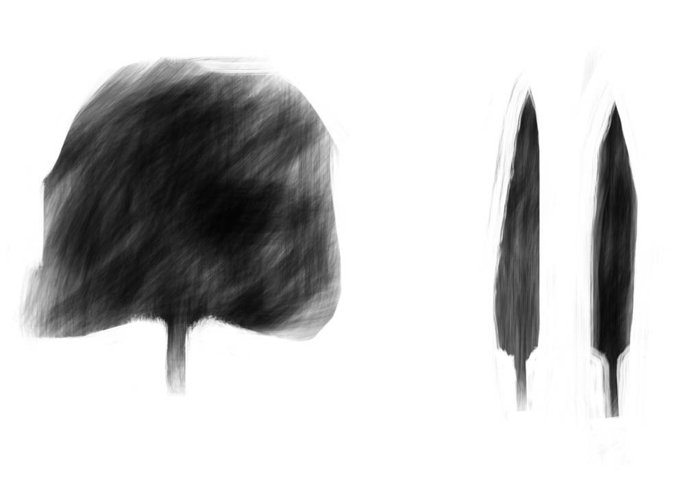 Three Tuscan trees 2