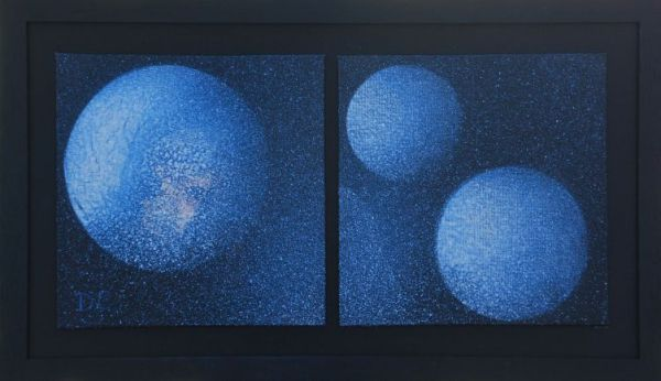 Blue Moons Diptych