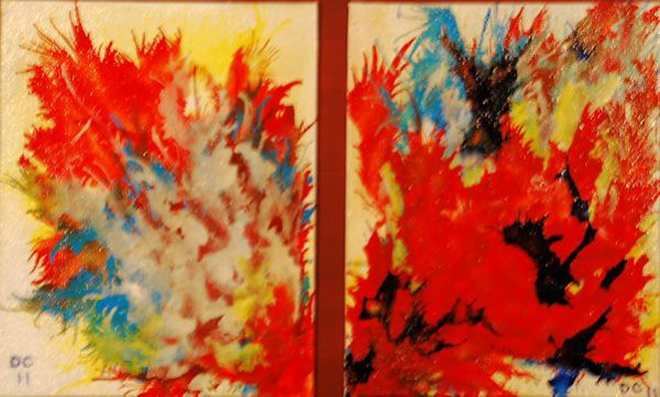 View From The Kitchen - Diptych