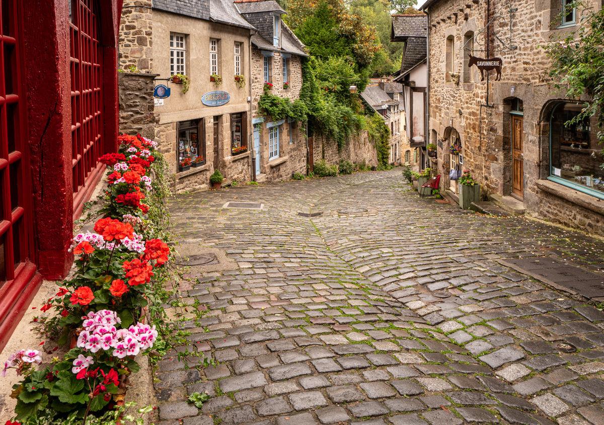 Dinan cobbled street