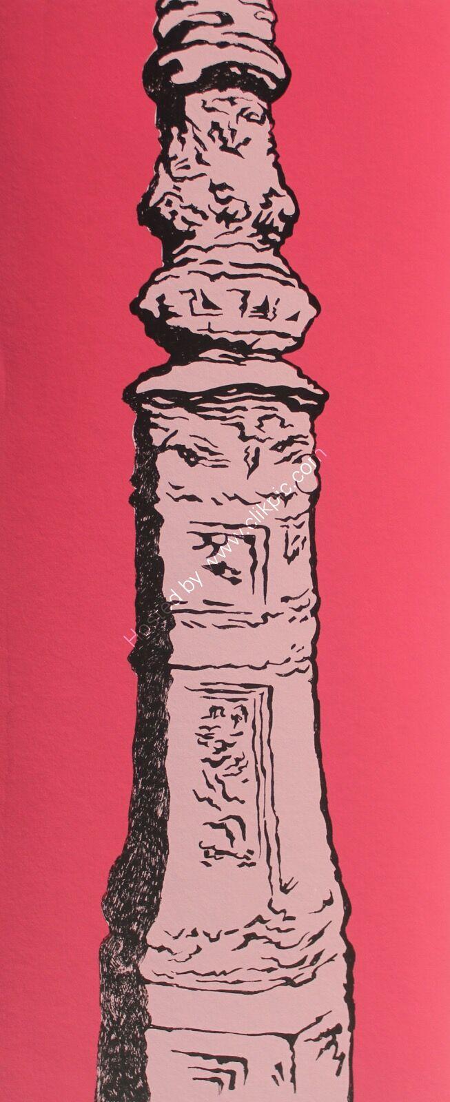 Brighton Lamppost/ Pink.