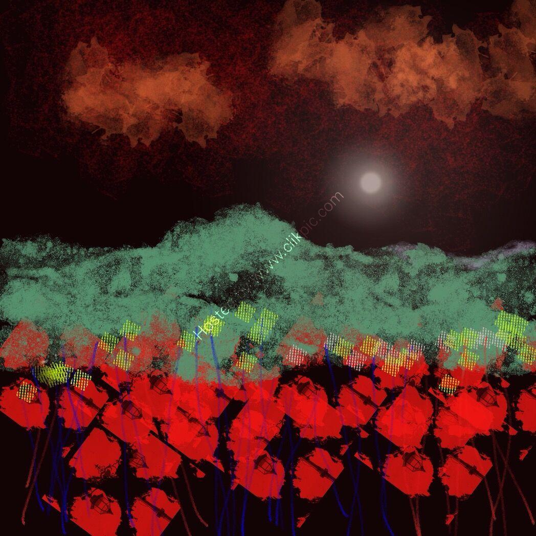 Orange Clouds, Night series number 19.