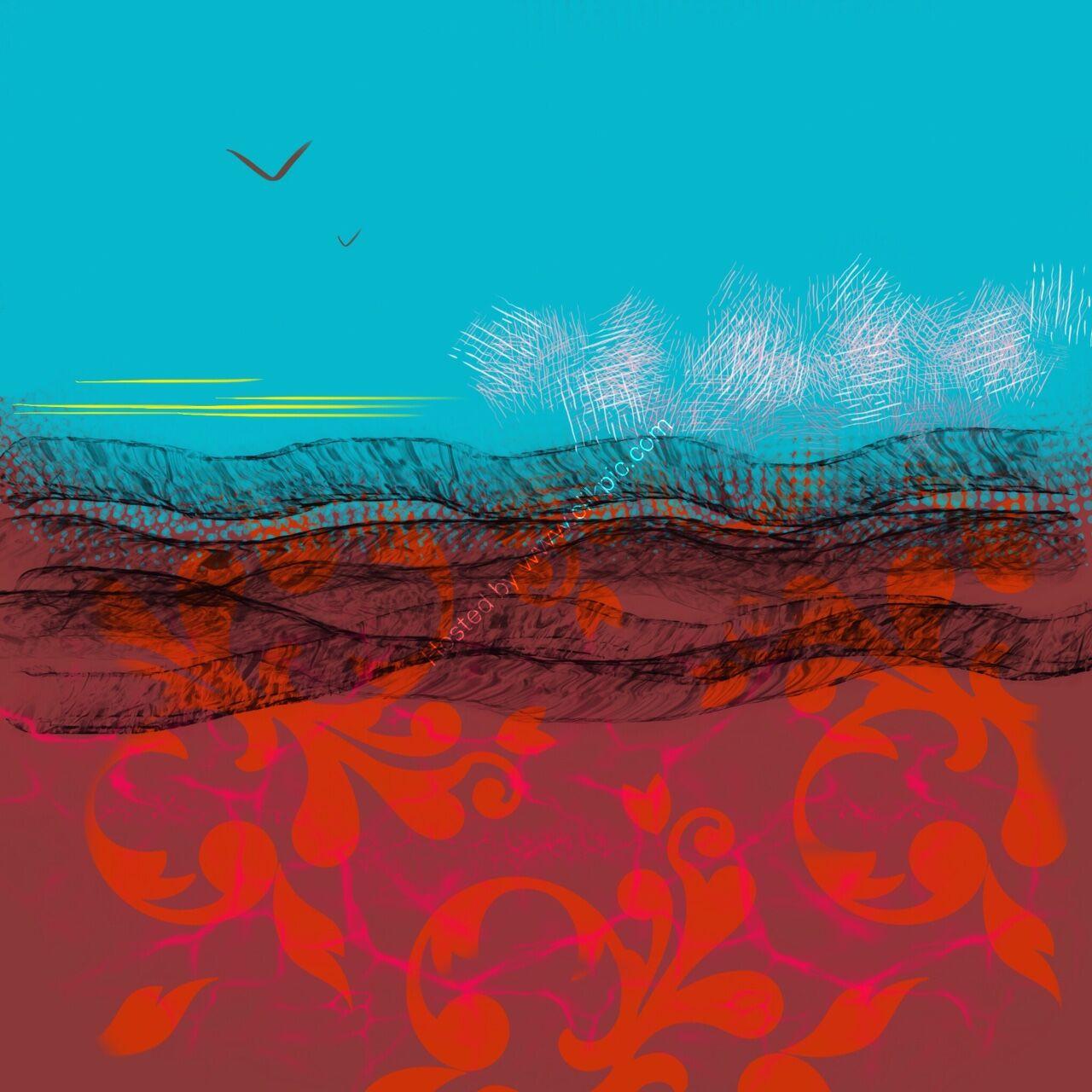 wings, digital drawing