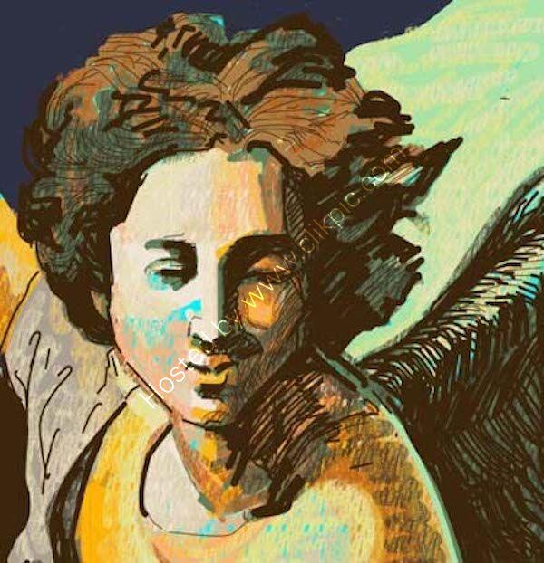 Angel 4 . Giclée print.