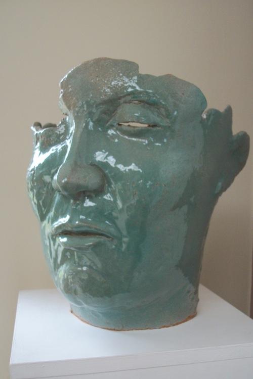 Male jade head 2. Fragment series.