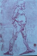 Standing male nude. Giclee Print.
