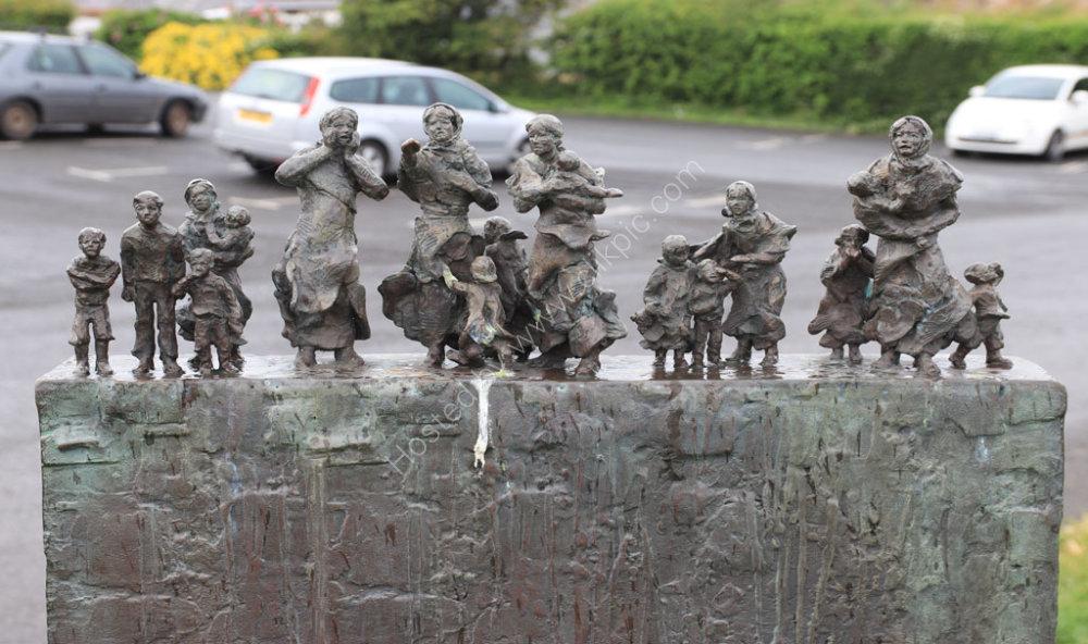 Pease Bay Memorial In Berwickshire